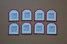 "Stampin Up Christmas Cardstock Tags  #2 made from ""Tags til Christmas"" Stamp Set"