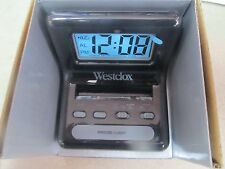 Westclox Travel Alarm Clock.  LCD Display #47538A  NEW
