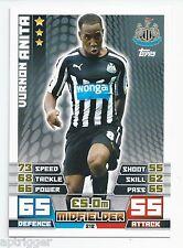 2014 / 2015 EPL Match Attax Base Card (212) Vurnon ANITA Newcastle United