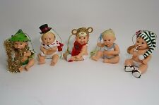 Bradford Exchange Baby Ornament Santa Its Not Easy Being Cute Lot