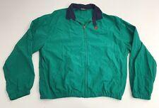 Vtg Polo Ralph Lauren Nylon Jacket Zip Up Green Polo Shield Patch XL