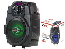 "QFX PBX-5 6.5"" Rechargeable PA Speaker +Bluetooth +USB/AUX/FM +RGB LED Light"
