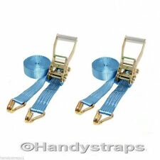 2 X 6 meter x 50mm  Blue Ratchets Tie Down Straps  5 tons Lorry Lashing