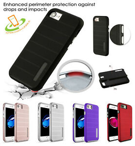 For Apple iPhone 8 7 PLUS 5 SE Shockproof Rubber Silicone Protective Case Cover