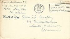 U.S. - 1943 MILITARY FREE COVER POSTED CHICAGO, ILL. #18