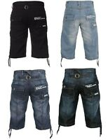 Mens ENZO Denim Summer Fashion Stylish Shorts Designer Half Jeans Pants 28-48