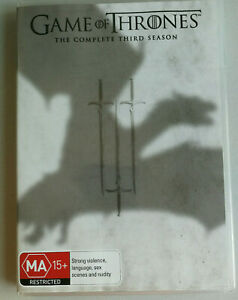Game of Thrones Season 3 DVD R4 5 disc set MA15+ VGC