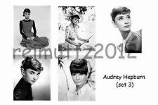 AUDREY HEPBURN - SET OF 5 LARGE PHOTO PRINTS # 3