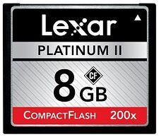 Lexar Platinum II 200X UDMA 8GB CF CompactFlash Memory Card For DSLR Camera 30MB