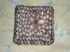 sea shells trinket container square for jewelry or other 3 1/2 square by 1 1/2