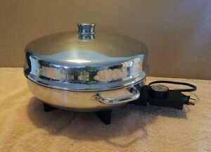 "Farberware Buffet Server Electric Fry Pan Vintage 12"" Model 344-A Dome Lid USA"