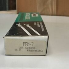 (25) PACK OF PANDUIT PPM-7 INSTA-CODE WIRE MARKER DISPENSER CARDS 7 FREE US SHIP