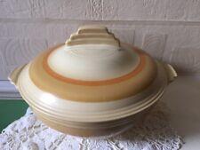 Crown Devon Fieldings Tureen Art Deco 1930s Geometric Shape