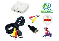 Sega Dreamcast TV AV Cable RCA Video Audio Composite Lead NEW -UK FAST FREE POST