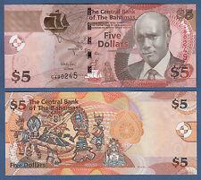 BAHAMAS 5 Dollars 2013  UNC  P. 72A