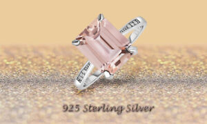 925 Sterling Silver Gemstone Octagon Shaped Ring for Women & Girls