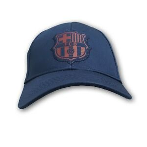 FC Barcelona Curved Brim Adjustable Strap Cap NWT One Size Fits Most