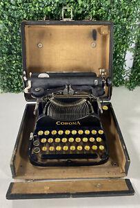 Antique 1917 Corona No. 3 Folding Portable Typewriter with Original Case Types!