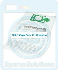 100 x NVM-2BH Filter-Flo Synthetic Dust Bags For Numatic NRV380-22