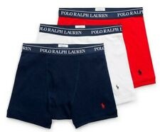 Polo Ralph Lauren Men's Classic Cotton Boxer Briefs (Red,Navy,White) (3 Pack)