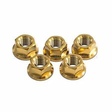 5x Suzuki GSXR750 K1-L0 Gold M10x 1.25 Titanium Rear Sprocket Nuts