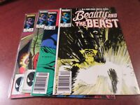 Beauty and the Beast #1 2 3 4 Marvel X-Men 1984 Comic Book Set 1-4 Complete
