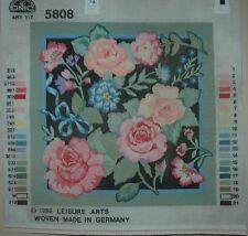 DMC Leisure Arts Needlepoint #5808 Garden Roses Canvas