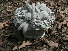 "Cement 7.5"" Tall Fruit Basket Garden Weathered Concrete Della Robbia Classic"