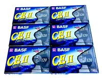 Lot (6) BASF Chrome Extra CE II 120 (type II) Cassette Tapes Blank Sealed CE II