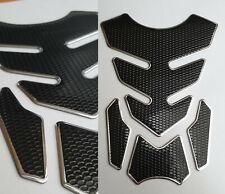 Tank Pad Protection Motorcycle Carbon Look Silver Black Universal Honda Yamaha