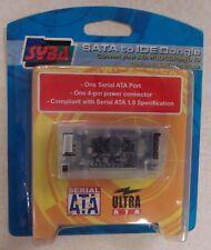 SYBA SATA to IDE Dongle Serial ATA HDD CDROM DVD