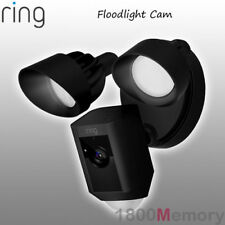 Ring Floodlight HD Security Camera Motion Activated 2Way Audio Siren Alarm Black