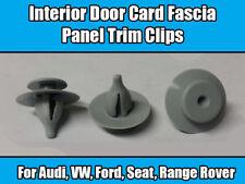 10x Clips Pour FORD VW AUDI Seat Rover Porte intérieure carte fascia panel trim Gris
