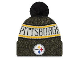 New Era Pittsburgh Steelers Sport Cuff Knit Beanie Hat Cap - Black