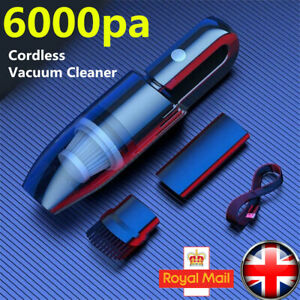 Cordless Hand Held Vacuum Cleaner Mini Portable Car Auto Home Wireless 120W 6000