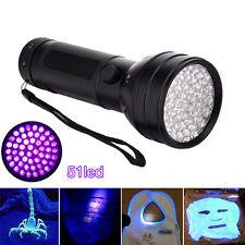 Ultra-bright 51LED UV Ultra Violet Blacklight Flashlight Purple Light Torch Lamp