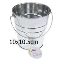 NEW Galvanized Small Metal Bucket Ribbed Tin Pot Handle Wedding Party Home Bulk