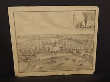 Ilinois Cass County Map Wm C. Miller 1874 !J14#97