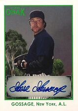 GOOSE GOSSAGE  2011 Tristar Obak  Authentic Autograph  /25 HOF New York Yankees