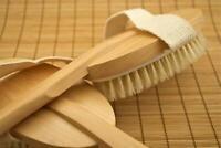 Detachable Long Handled Back/Body Brush Scrubber - Dry Skin Exfoliating Brushing