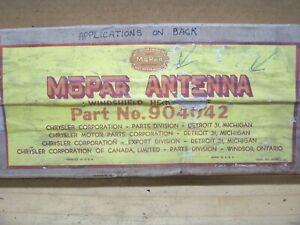 Vintage MOPAR NOS Dodge 1941 42 46 47 48 Chrysler Plymouth Desoto Radio Antenna