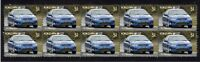 FORD FPV FALCON BF GT STRIP OF 10 MINT VIGNETTE STAMPS, BLUE