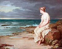 Miranda by British John William Waterhouse. People Repro choose Canvas or Paper