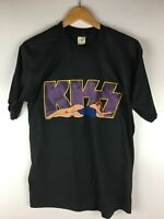 T-shirt KISS Crazy Nights Tour 1987 Vintage Black Single Stitch Tennessee Riv XL