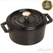 Staub Cocotte asador 10 cm Ø negro Rendondo olla de Cocción mini maceta cazuela