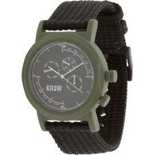 $80 KR3W Navigator Watch green black K1340GRN-1S