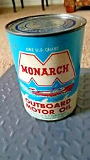 Vintage Monarch Outboard Empty Quart Motor Oil Can