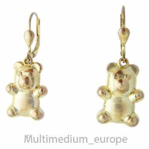 333 Gelbgold Bärchen Ohrringe Teddy Bär 8ct vintage gold earrings 🌺🌺🌺🌺🌺