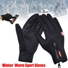 Mens Winter Sports Warm Gloves Thermal Touch Screen Mittens Windproof Waterproof