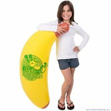 "48"" Inch Giant Inflatable Banana Inflate -  Blow Up Luau Swim Pool Beach Noodle"